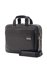 SAVIO LEATHER IV Laptop Briefcase Black medium | Samsonite