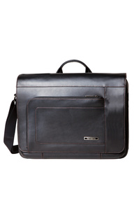 SAVIO LEATHER III Messenger Bag Black medium | Samsonite