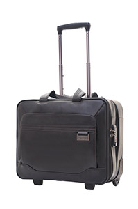 SAVIO LEATHER IV Rolling Tote Black medium | Samsonite