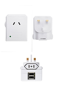TRAVEL ACCESSORIES Universal 2 Port USB Travel Adaptor White medium | Samsonite