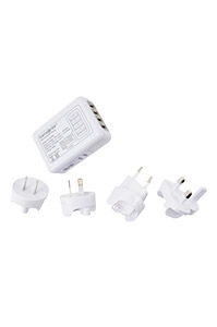TRAVEL ACCESSORIES Universal 4 Port USB Travel Adaptor White medium | Samsonite