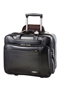 SAVIO LEATHER III Rolling Tote Black medium | Samsonite