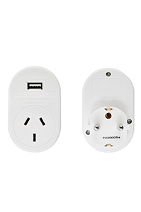 TRAVEL ACCESSORIES Europe USB Travel Adaptor White medium | Samsonite