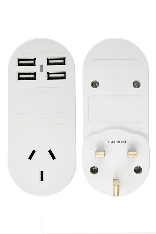 TRAVEL LINK ACC. Adpt 4xUSB (2 Amp) UK HK  hi-res | Samsonite