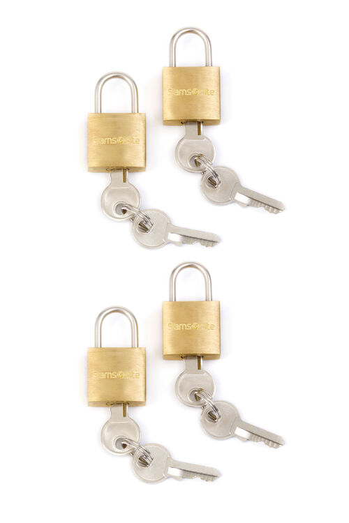 LOCKS BRASS KEY LOCK (4 PACK)  hi-res | Samsonite
