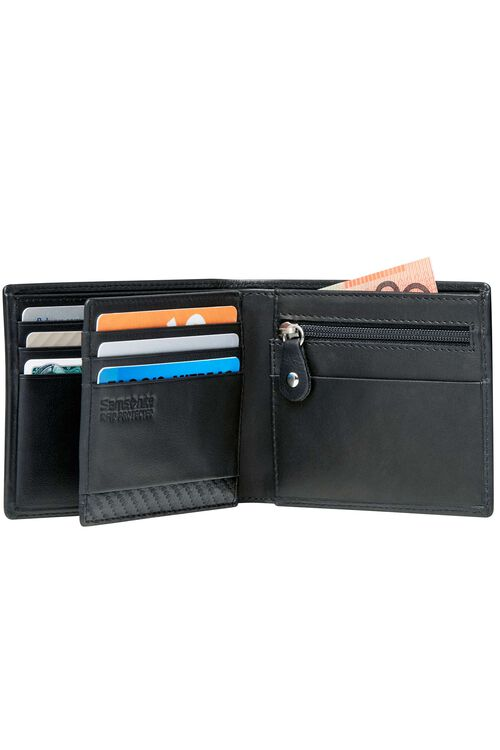 DLX LEATHER WALLETS Wallet wtih Coin & ID7CC  hi-res   Samsonite