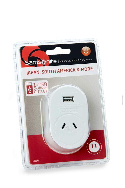 TRAVEL LINK ACC. Adptr USB - Sth America & JPN  hi-res | Samsonite