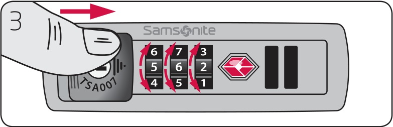 samsonite tsa007 lock instructions