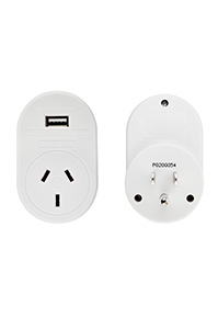 TRAVEL ACCESSORIES USA USB Travel Adaptor White medium | Samsonite