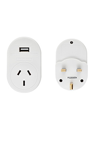 TRAVEL ACCESSORIES UK and HK USB Travel Adaptor White medium | Samsonite